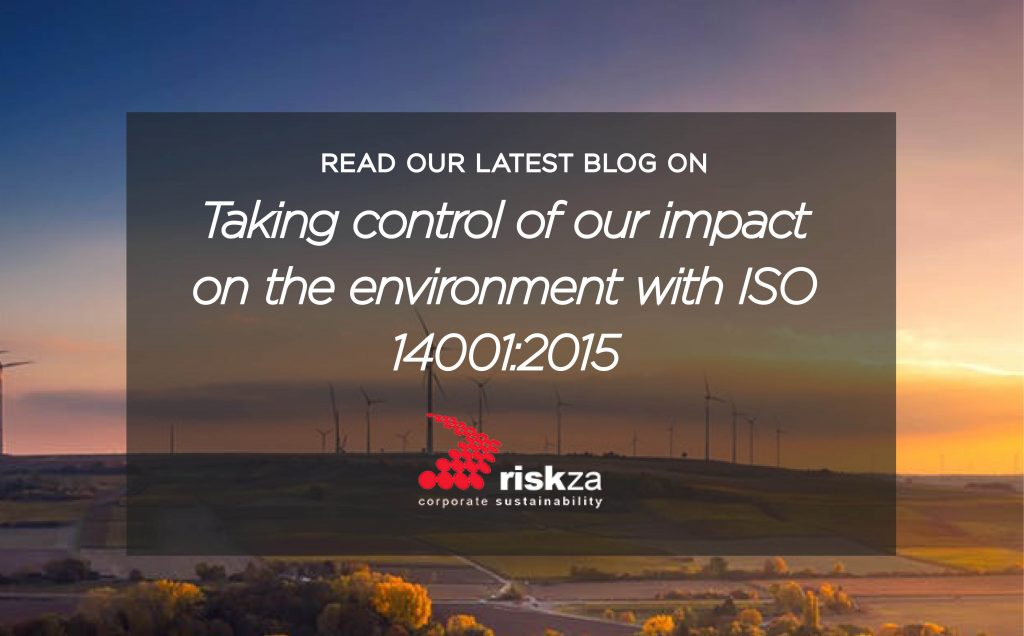 taking control of our impact on the environemtn with iso