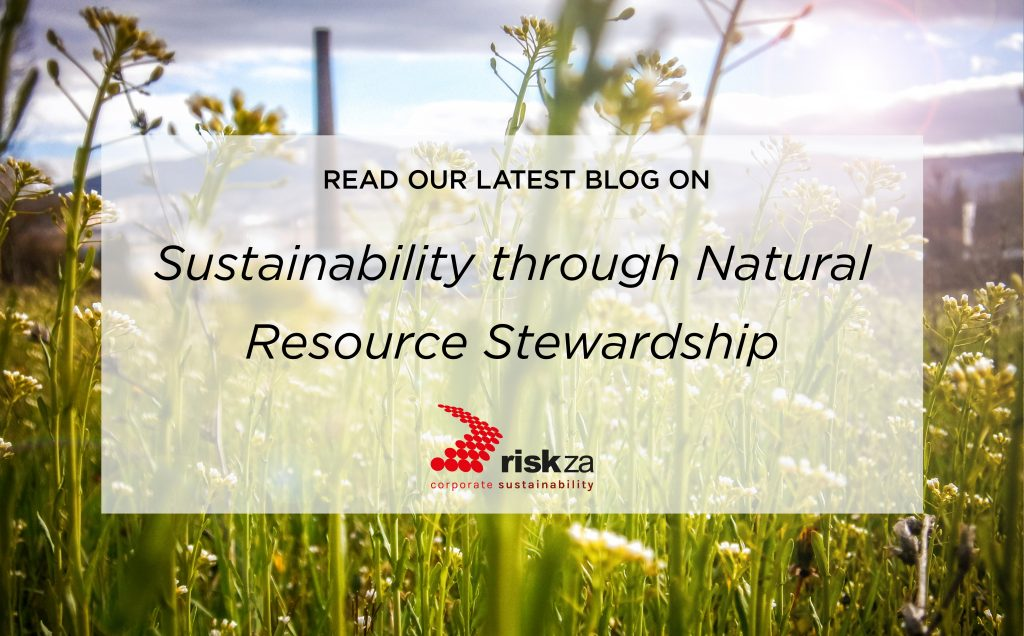 Sustainability through Natural Resource Stewardship
