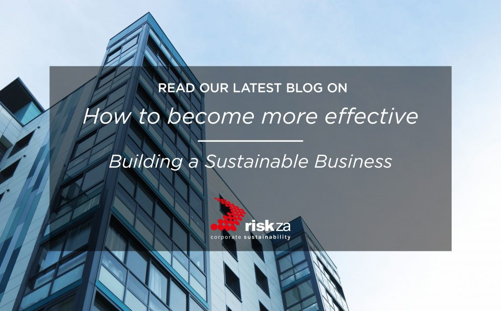 How to become more effective: building sustainable business